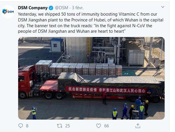 dsm livre 50 tonnes de vitamine C