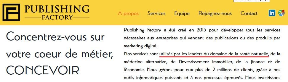 Publishing factory marketing de SNI